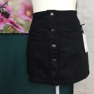 NWT Forever 21 Black Denim Skirt